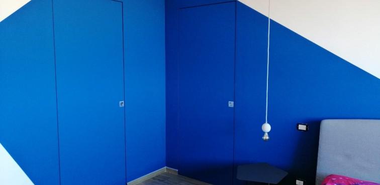 Porte PIVATO filo muro collezione leggera, grezza da tinteggiare