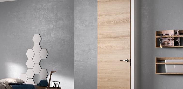 Porta filo muro Ferrero Legno Exit Zero in rovere natural touch